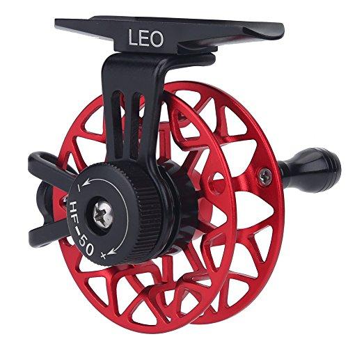 Fishing Reel Ice Fishing Reels Wheel - Mini Full Metal CNC Fly Fishing Rock Reels Ultralight Ball Bearings Former Raft Ice Fishing Vessel Wheel Reels Right Hand Fish Wheel Gear Ratio 1:1 (Fish Wheel)