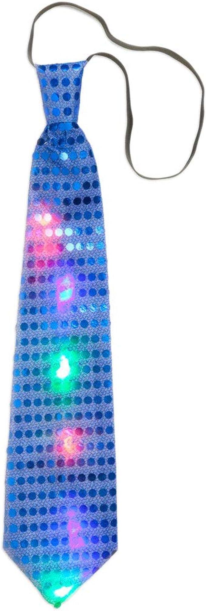 Macabolo - Corbata de lentejuelas unisex con luces LED que brillan ...