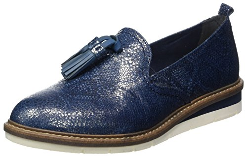 Tamaris Mocassins Metallic navy 24300 Bleu Femme 8W0qnA8rg