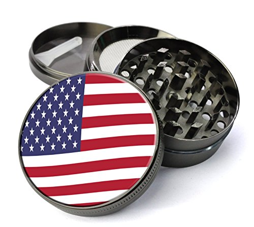 American-Flag-Extra-Large-5-Piece-Spice-Tobacco-Herb-Grinder-with-PollenKeef-Catcher-Premium-Crusher