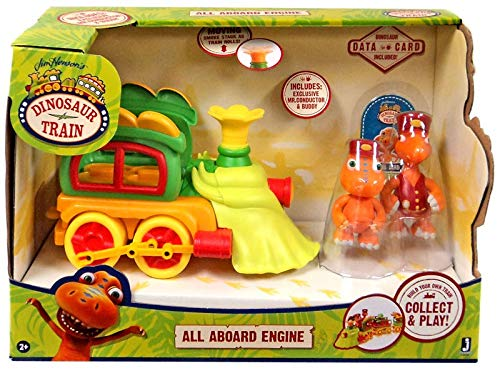 Dino Train Deluxe Train Engine with Buddy & Mr. Conductor Vehicle]()