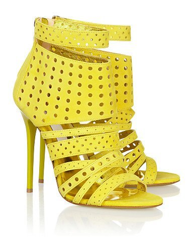 Jaune KR003 Sandales doré Extérieur Or femmes Robe à Chaussures talons ShangYi Décontracté Talons pour 7qvqwX