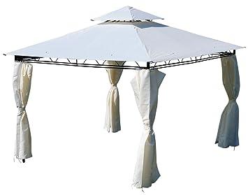 ASS Eleganter Gartenpavillon Pavillon 3x3 Meter 9m2 Dach 100 Wasserdicht UV30 Mit
