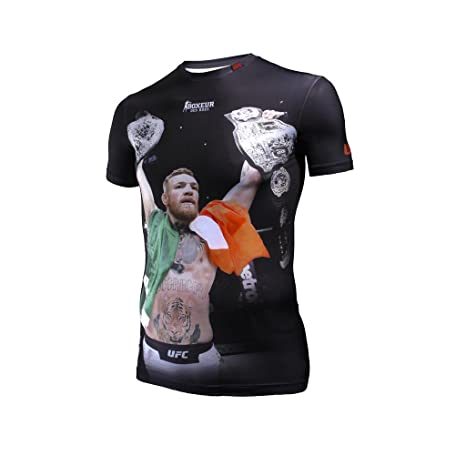 Stampa Boxeur T Rues Activewear Shirt Serie Conor Di Con Des Fight Uq8ScwgrU