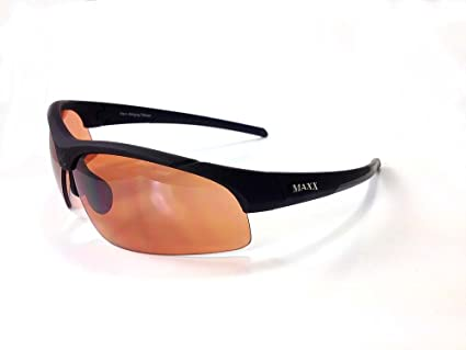 d8ab12348a Image Unavailable. Image not available for. Color  Maxx Sunglasses Stingray  Black Frame HD Copper Lenses