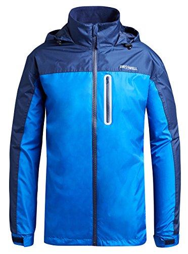 Men's Waterproof Raincoat With Hood SWISSWELL Navy Blue Large