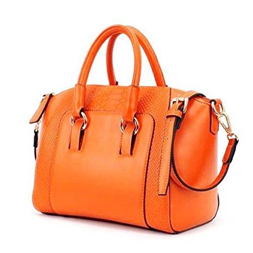 Hrph Lady Handbag Crocodile Grain Commuting Single Shoulder Synthetic Leather