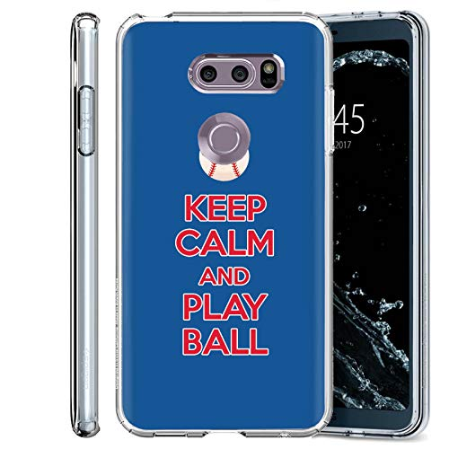 ([Mobiflare] LG V30S / V30 Plus / V35 ThinQ (Clear) Ultraflex Thin Gel Phone Cover [Play Ball - Chi Town Print])