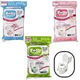 Toilet Seat Covers- Disposable XL Potty Seat Covers, Individually Wrapped by Potty Shields - Extra-Large, No Slip (Sports -20 Pack): more info