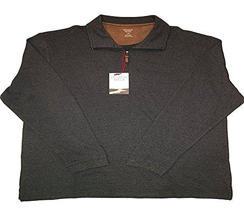 (Hudson River Men's Long Sleeve 1/4 Zip Pullover. Coal Marble - XXLarge)
