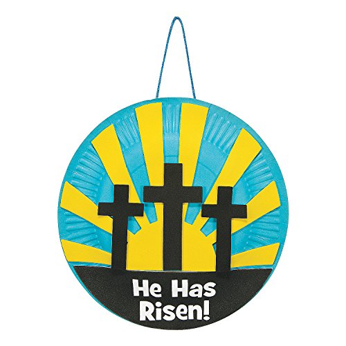 (Fun Express - Resurrection Paper Plate ck for Easter - Craft Kits - Hanging Decor Craft Kits - Paper Plate Craft Kits - Easter - 12 Pieces)