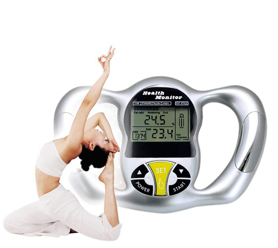 ZUZU Hot Body Fat Monitor Hand Held Body Mass Index BMI Health Monitor Digital Handheld BMI Body Fat Measurement,A