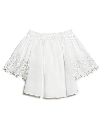 Motivi Damen Bluse Weiß Bianco 34  Amazon.de  Bekleidung 144b18414a13