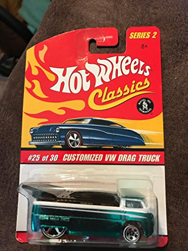 Hot Wheels Classics Series 2 Customized Green/White VW Drag Truck 25/30 Collector Car