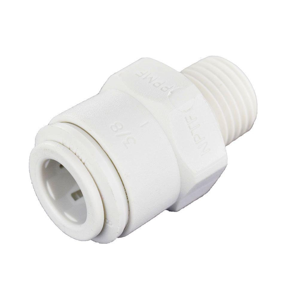 John Guest Speedfit PP011222WP Male Connector 3/8 inch Od x 1/4 inch Npt Push-To-Connect