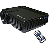 Mini Home Video Projector, Sourcingbay Theater LED Projector 800x480, 800 Lumens, Support HDMI/ VAG/ AV/SD/ USB Input, for Home Multi Media Entertainment