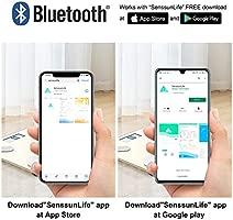 Báscula Grasa Corporal Bluetooth Básculas de baño SENSSUN,Analiza la composición corporal, porcentaje de grasa corporal,con 13 ...