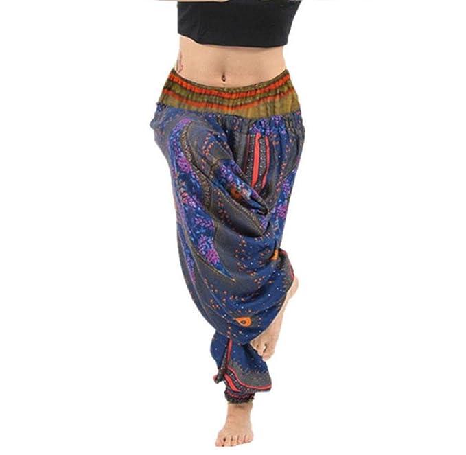 a4a9d8f0bd88 Tomatoa Frauen Thai Hippie Hose Hosenrock Haremshose Pumphose für Damen Haremshose  Pluderhose Hose Aladinhose Aladinhosen Pumphose