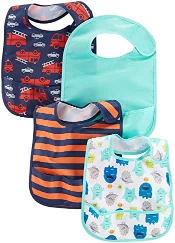 Simple Joys by Carter's Baby Boys' 4-Pack Feeder Bibs