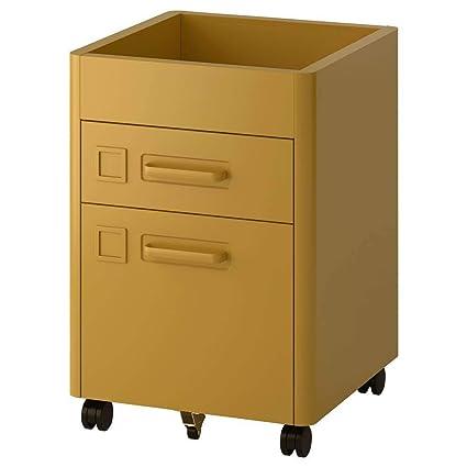 IKEA ASIA IDASEN - Cajonera con Ruedas, Color Dorado y ...