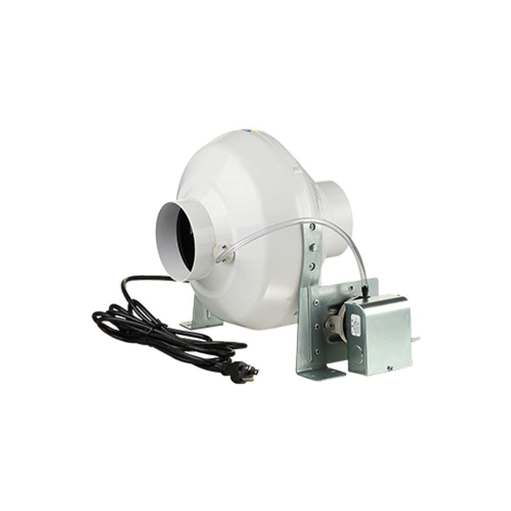 """Ventamatic VK PS 100 Plastic Inline Dryer Booster Centrifugal Fan with Pressure Switch, 162 CFM, 4-Inch 4"""""""