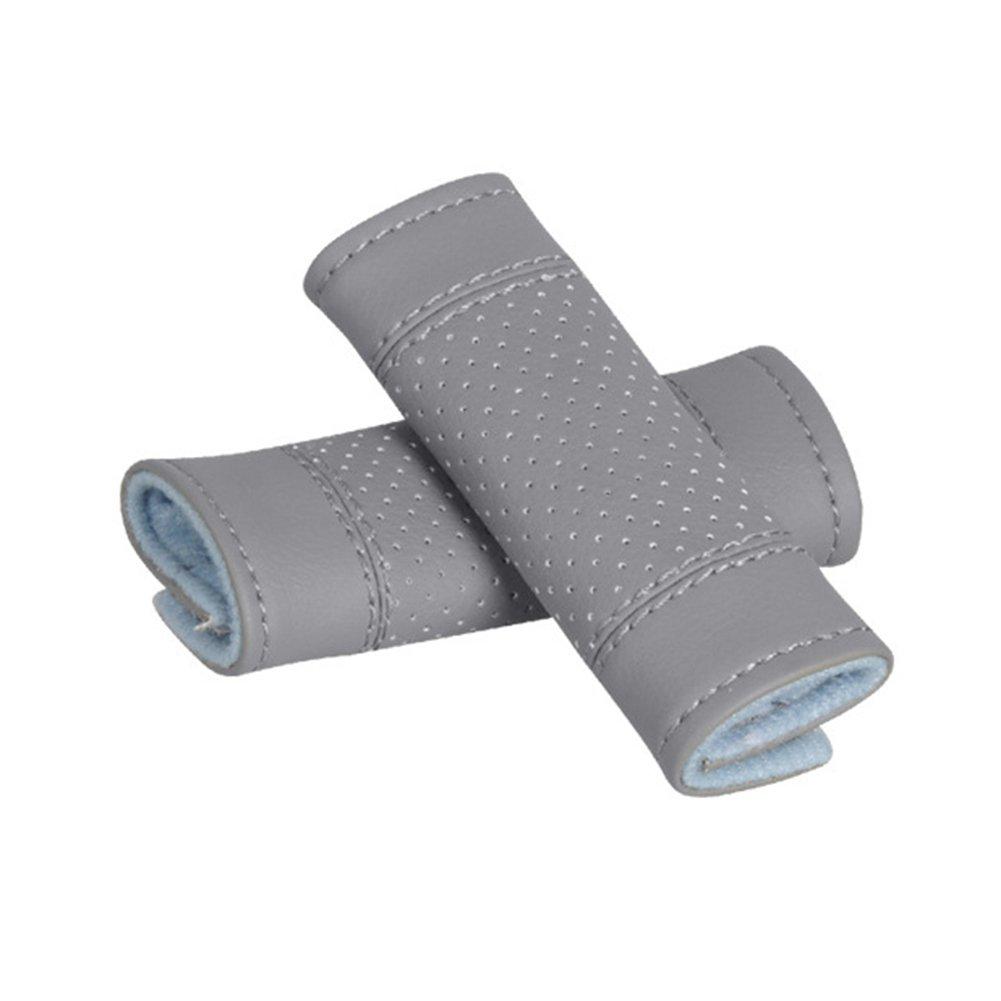 Encell Auto PU Gray Grab Handle Cover Soft Car