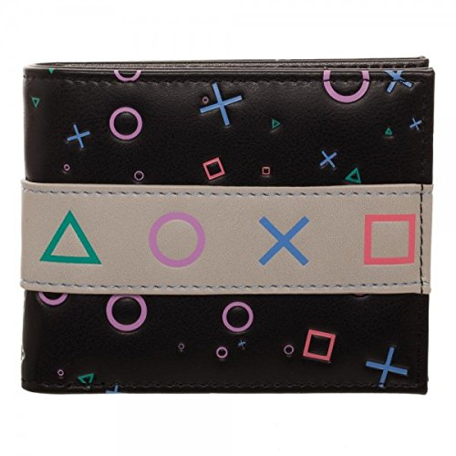 SONY Playstation Symbols And Slogan Faux Leather Wallet BioWorld