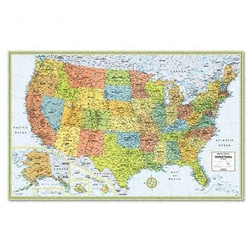 Amazoncom Rand McNally Laminated Wall Map US In X In - Amazon maps