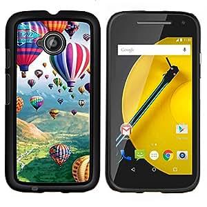 """Be-Star Único Patrón Plástico Duro Fundas Cover Cubre Hard Case Cover Para Motorola Moto E2 / E(2nd gen)( Hot Air Balloon Flying naturaleza Cielo"""" )"""