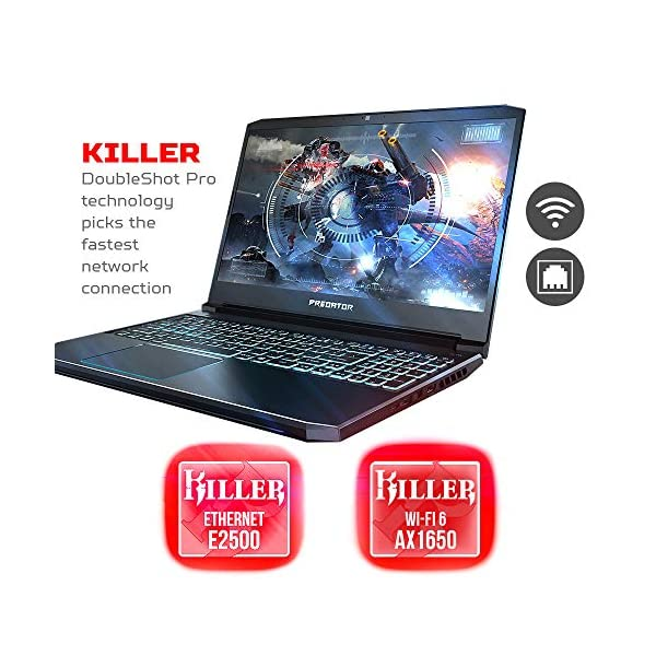 "Acer Predator Helios 300 Gaming Laptop, Intel Core i5-9300H, GeForce GTX 1660 Ti, 15.6"" Full HD 120Hz Display, 3ms Response Time, 8GB DDR4, 512GB PCIe NVMe SSD, Backlit Keyboard, PH315-52-588F,Black 3"