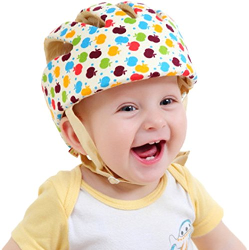 Infant Baby Toddler Safety Head Protection Helmet - Sport Design - Packed in Gift Box (Apple)