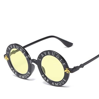 WYLJ Tendencia gafas de sol letras retro gafas de sol de ...