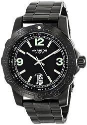 Akribos XXIV Men's AK696BK Essential Black Stainless Steel Bracelet Watch