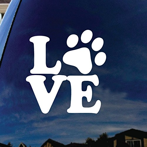 Love Paw Dog Cat Family Car Window Vinyl Decal Sticker 4