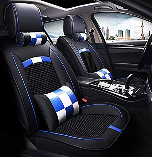 OYDA Four Seasons Leather Ice Silk Car Seat Cover - Non-slip suede lining for general purpose fabric and leather car seats-C: Amazon.co.uk: Kitchen & Home