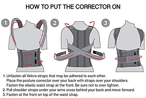 TOROS-GROUP Comfort Posture Corrector Shoulder and Back Brace Support Lumbar Support for Men and Women (X-Small)