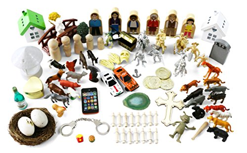 Sandtray Play Therapy Basic Starter Kit - 85+ (Basic Starter Kit)
