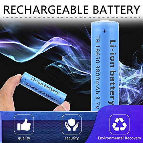 dianagold 18650 Li-ion 3800mAh Capacity 3.7V Rechargeable Battery for Your Flashlight