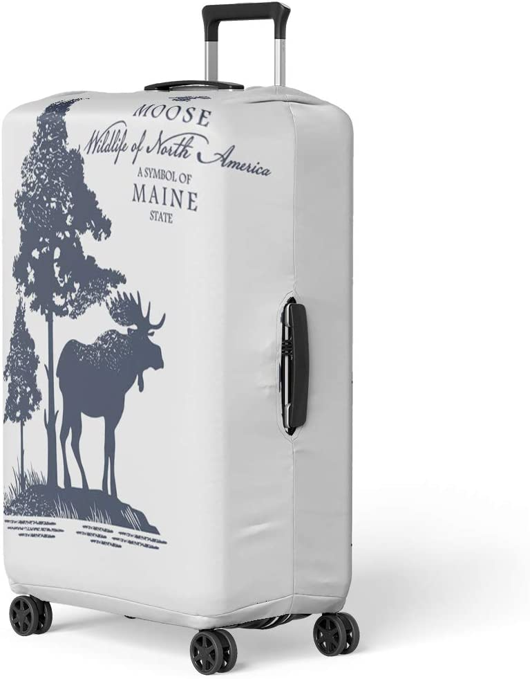 Pinbeam Luggage Cover Happy Barnyard Farm Animals and People This Travel Suitcase Cover Protector Baggage Case Fits 26-28 inches
