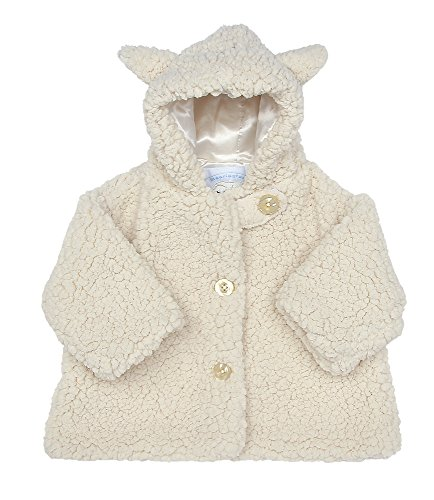 Bearington Baby Lamby White Lamb Hooded Coat (12-24 Months)