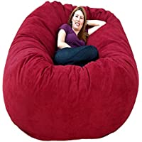 Cozy Sack 6-Feet Bean Bag Chair, Large, Cinnabar