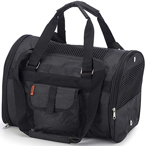 Prefer Pets 566 Jet Carrier for Pets (Black) – Airline Approved, Perfect for Small Animals, Dogs and Cats