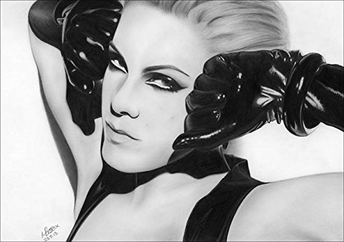 Imagekind Wall Art Print entitled Drawing P!Nk Covergirl 001 by Mandy Boss | 23 x - Bristol Board Size