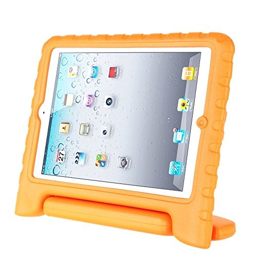 Afranker Ipad 5/Air Shockproof Case Light Weight Kids Case Super Protection Cover Handle Stand Case for Kids Children for Apple Ipad 5/Air Orange
