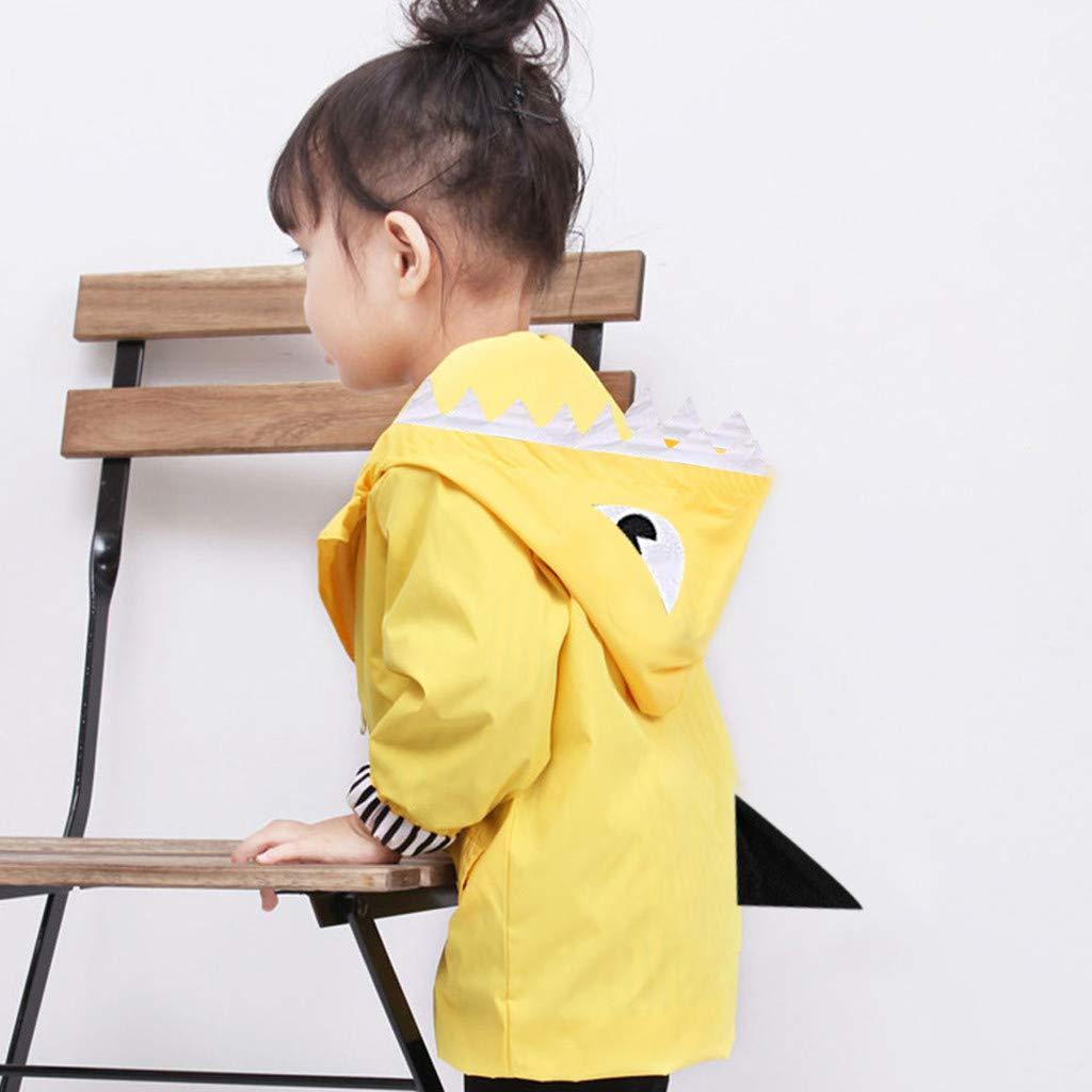 feiXIANG Kleinkind Regenmantel mit Kapuze Baby M/ädchen Junge Regenjacke Karikatur Dinosaurier Entlein Mantel