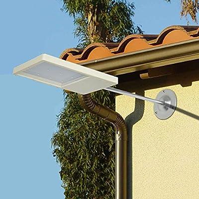 Blanco: panel solar de 18 luces LED para la calle, sensor solar ...