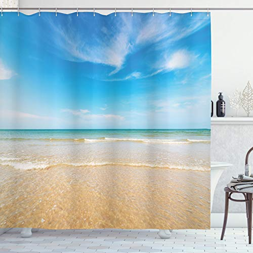 beach scene shower curtain - 8