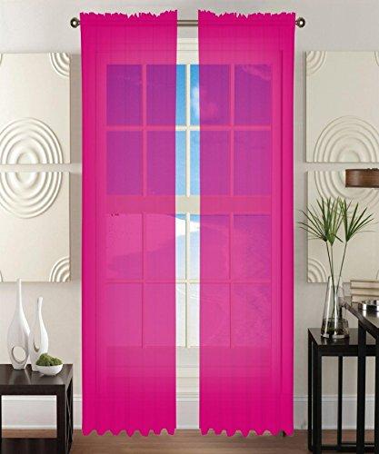Elegant Comfort 2-Piece Sheer Window Curtain/Panel with 2