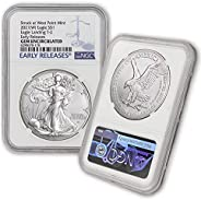 2021 (W) 1 oz American Silver Eagle Coin Gem Uncirculated (Eagle Landing T-2 - Early Releases - Struck at West