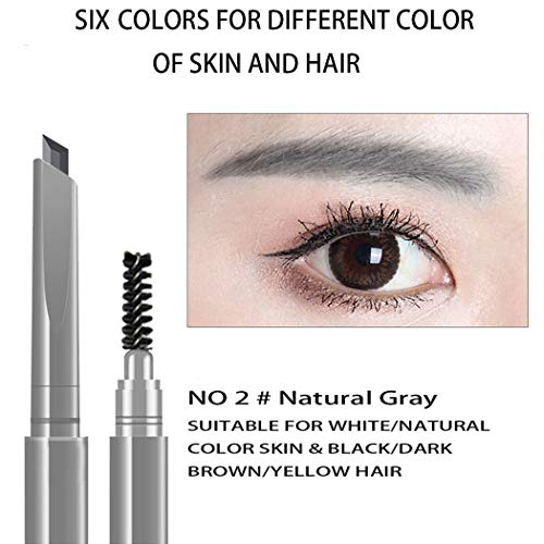 AFY Long lasting and Waterproof Professional Makeup Auto Eyebrow Pencil (No.2 Natural Gray)